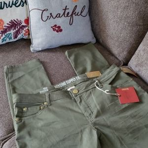 Mossimo sage green cotton twill skinny pants